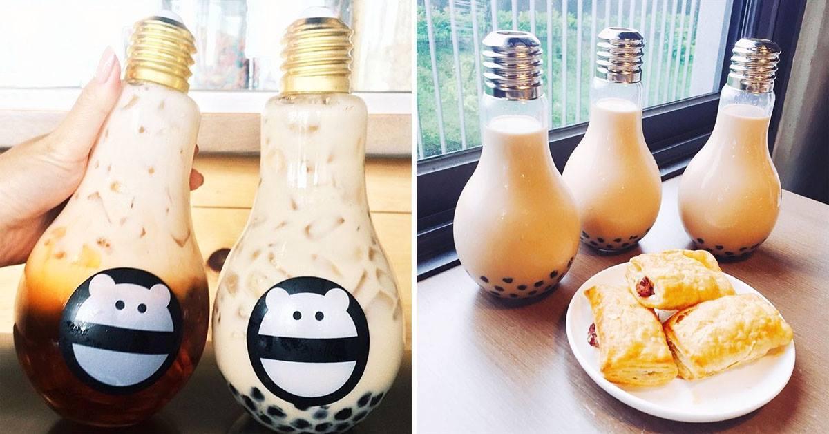 trà sữa bóng đèn