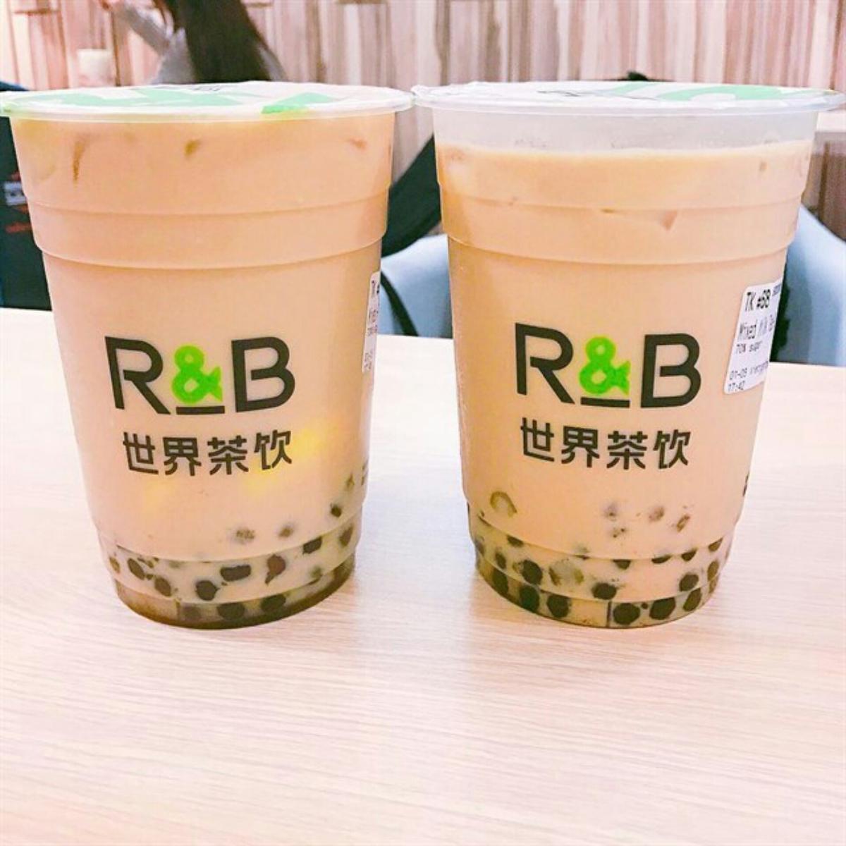 trà sữa R&B được đẹp mắt