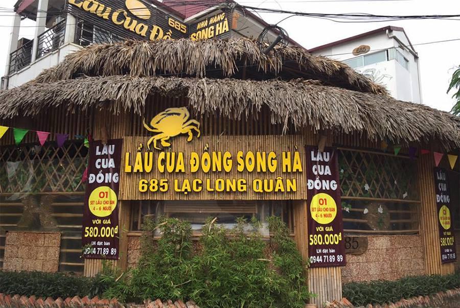 quán lẩu cua đồng Song Hà