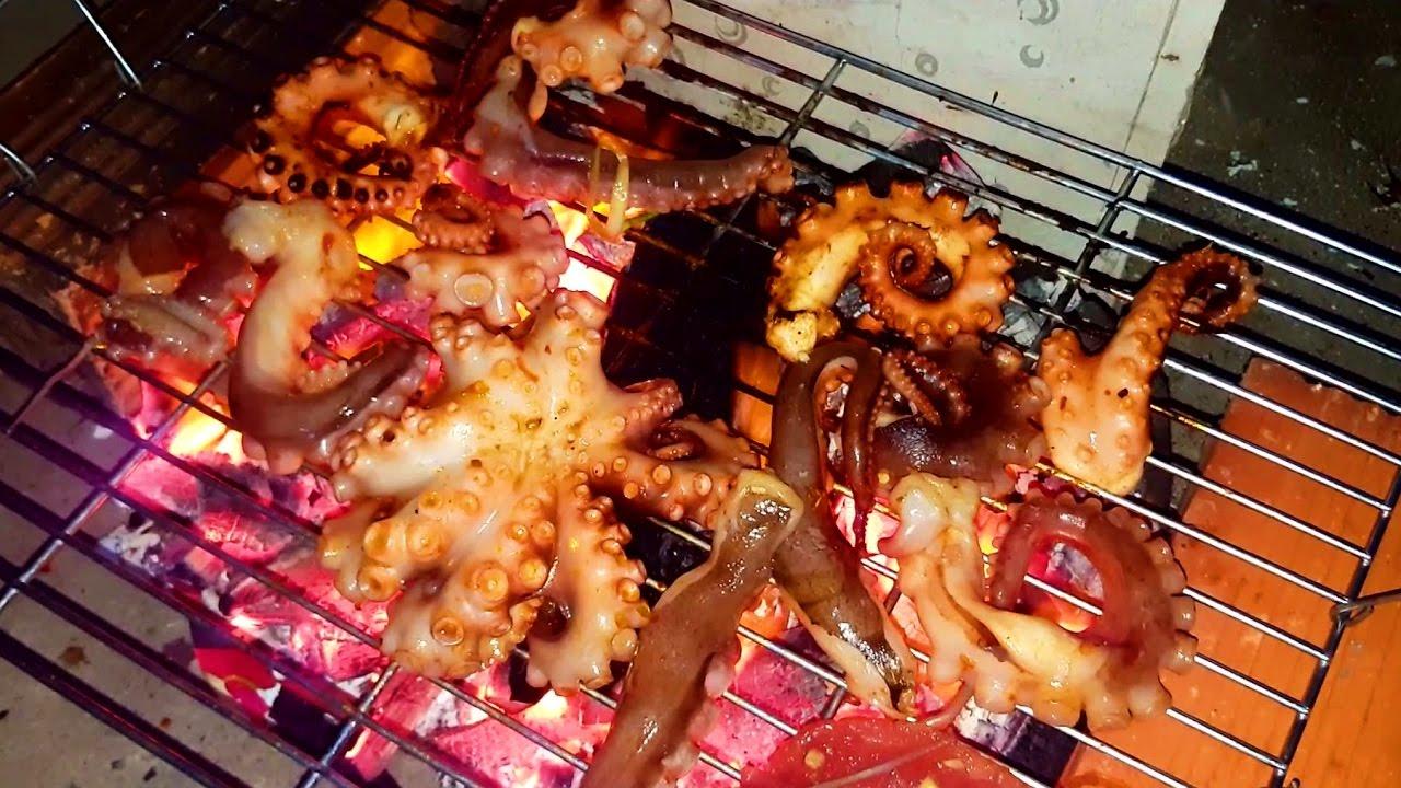 Cách làm bạch tuộc nướng sate