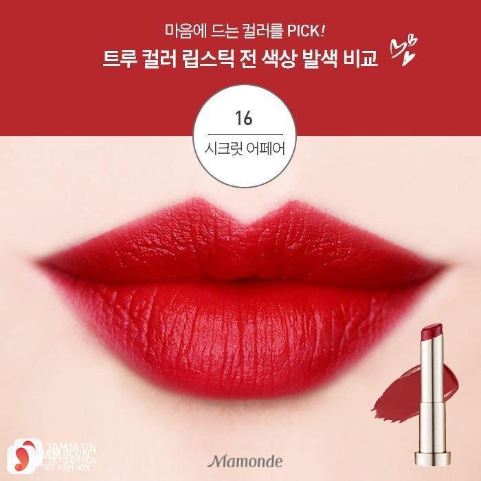 Mamonde True Color Lipstick màu 16 Secret Affair