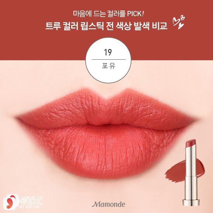 Mamonde True Color Lipstick màu 19 Po Yu