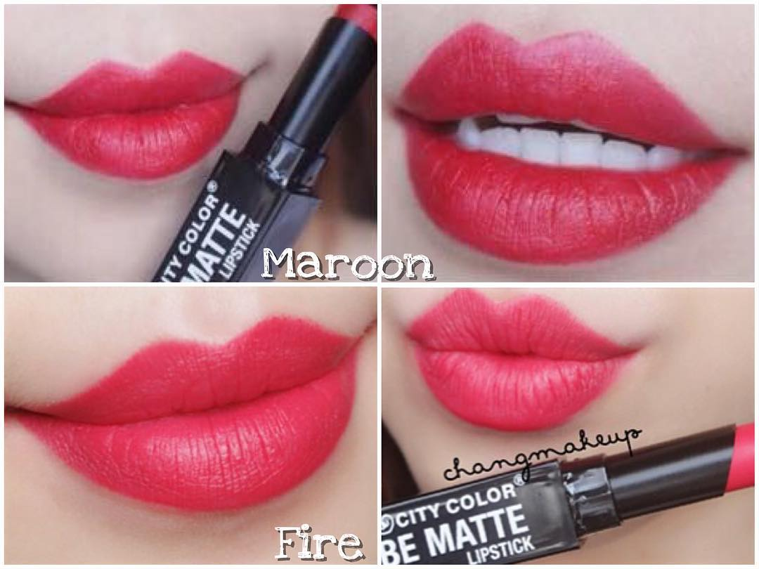 Bảng màu son City Color Be Matte-