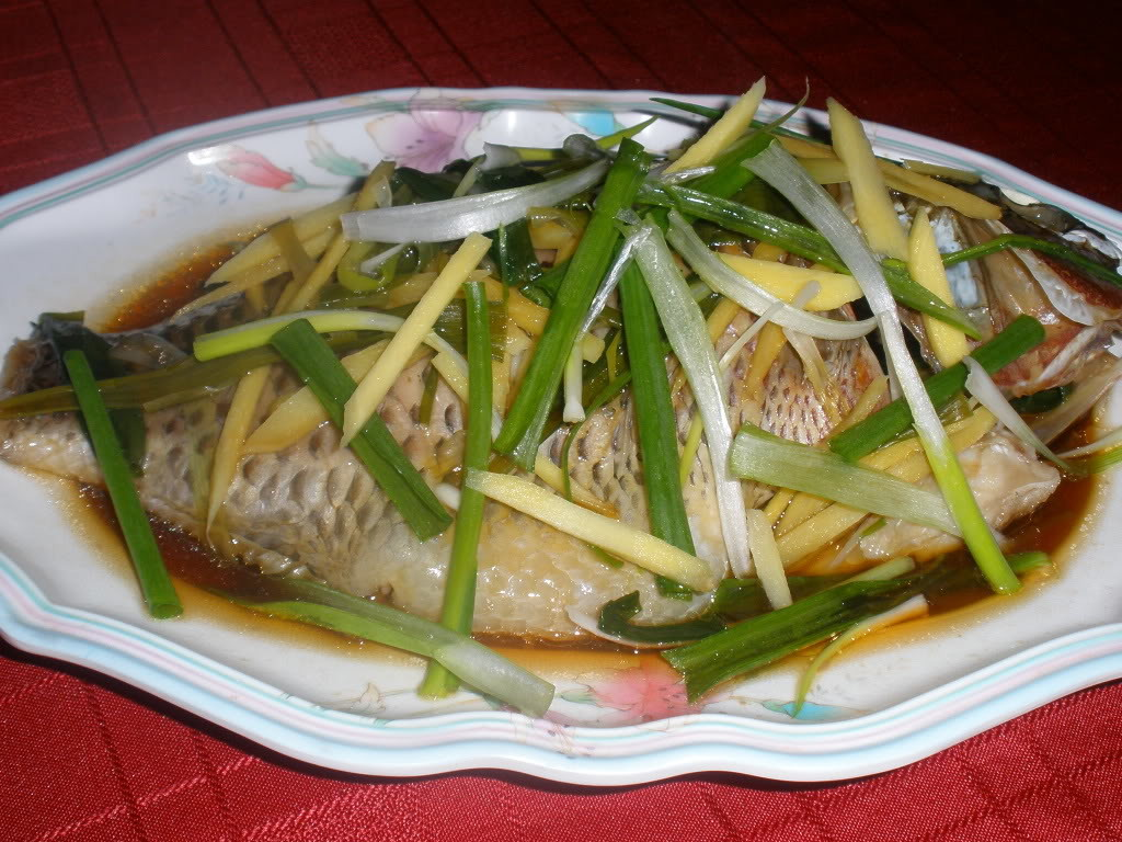 cá rô phi hấp xì dầu