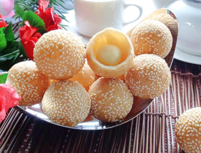 Các loại bánh làm từ bột nếp - Bánh rán lúc lắc