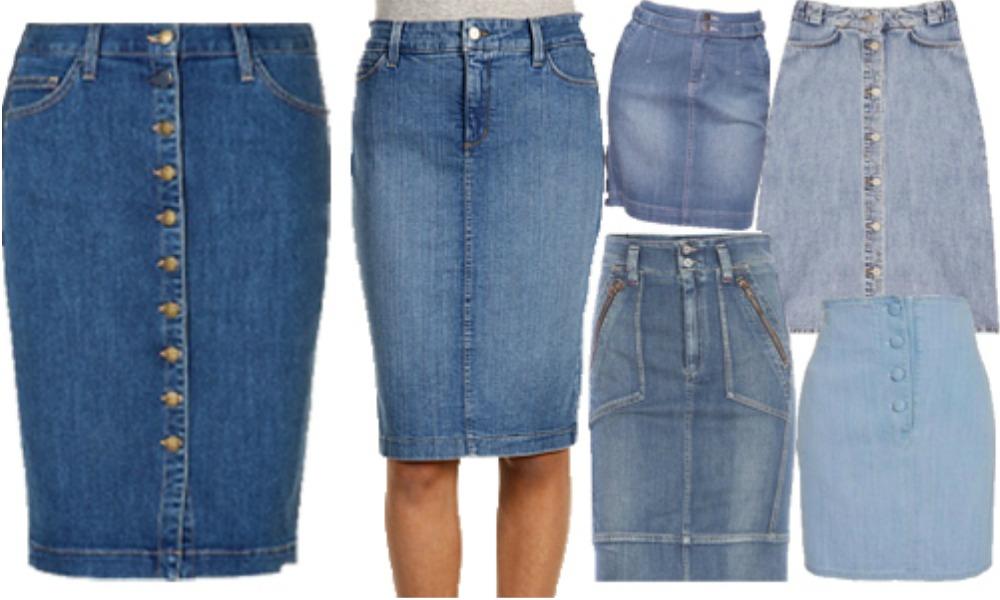 Chân váy Jeans kết hợp với áo gì