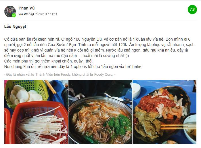 Review quán lẩu riêu cua bắp bò ngon ở Hà Nội - 2
