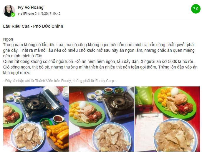 Review quán lẩu riêu cua bắp bò ngon ở Hà Nội - 1