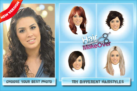 ứng dụng ghép tóc vào khuôn mặt - Hair Makeover