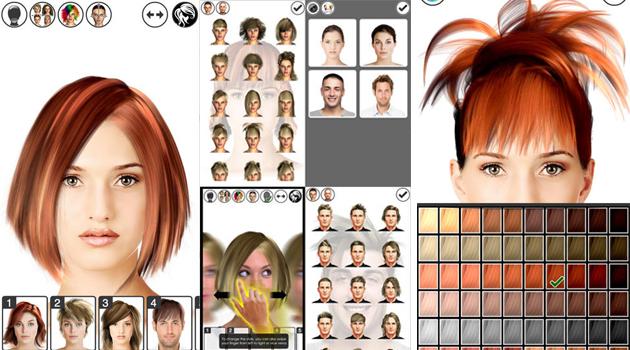 ứng dụng ghép tóc vào khuôn mặt Hair Tutorial