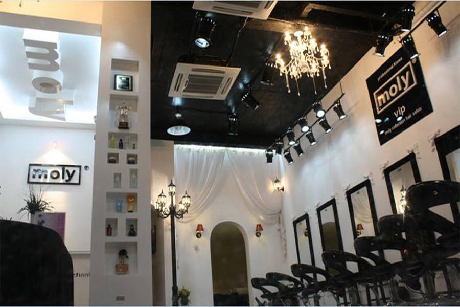 Tiệm cắt tóc Moly Hàn Quốc