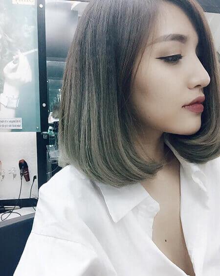 tóc ép cụp đuôi