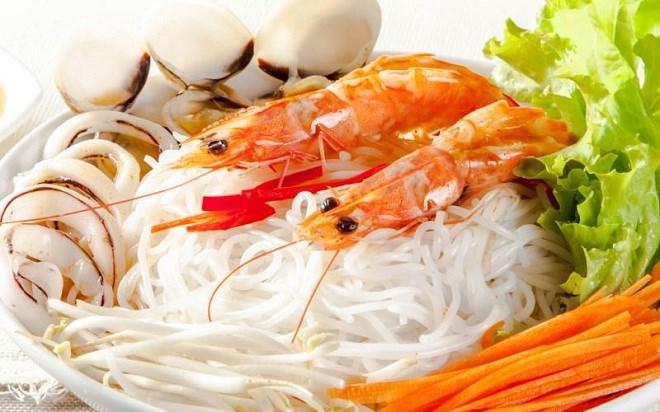 Cách nấu bún hải sản