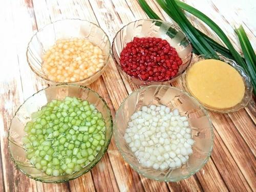Cách làm hạt lựu bằng bột năng 5