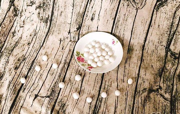 cách làm hạt lựu bằng bột năng 2