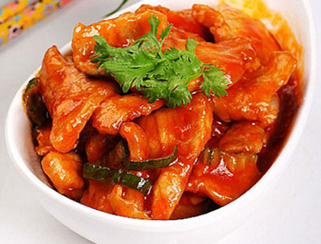 Cách rang thịt lợn nạc chua ngọt-3