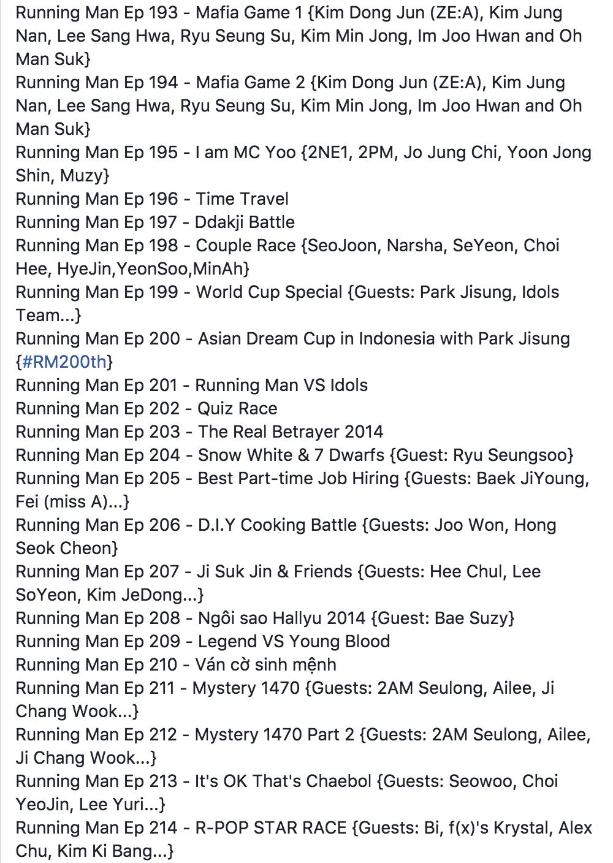 Danh sách khách mời Running Man làm bao con tim nhức nhối