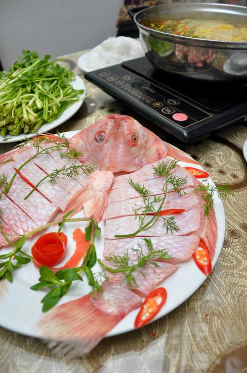 Nguyên liệu cách nấu lẩu cá chua cay-1