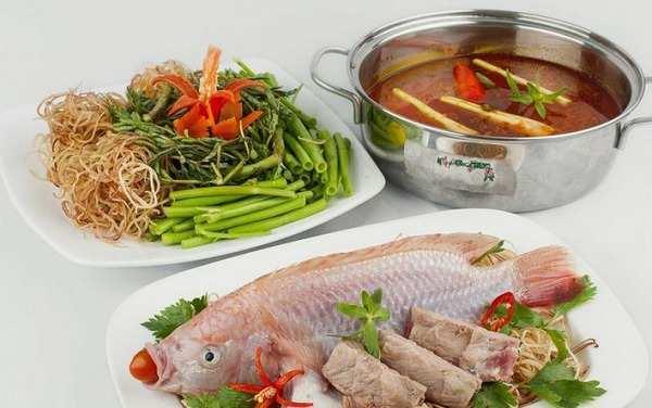 Nguyên liệu cách nấu lẩu cá chua cay-5