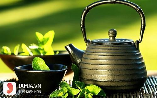 Tẩy da chết bằng trà xanh