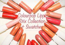 bảng màu son Colourpop Lippie Stix đầy đủ