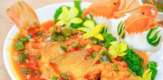 cá điêu hồng sốt cà chua