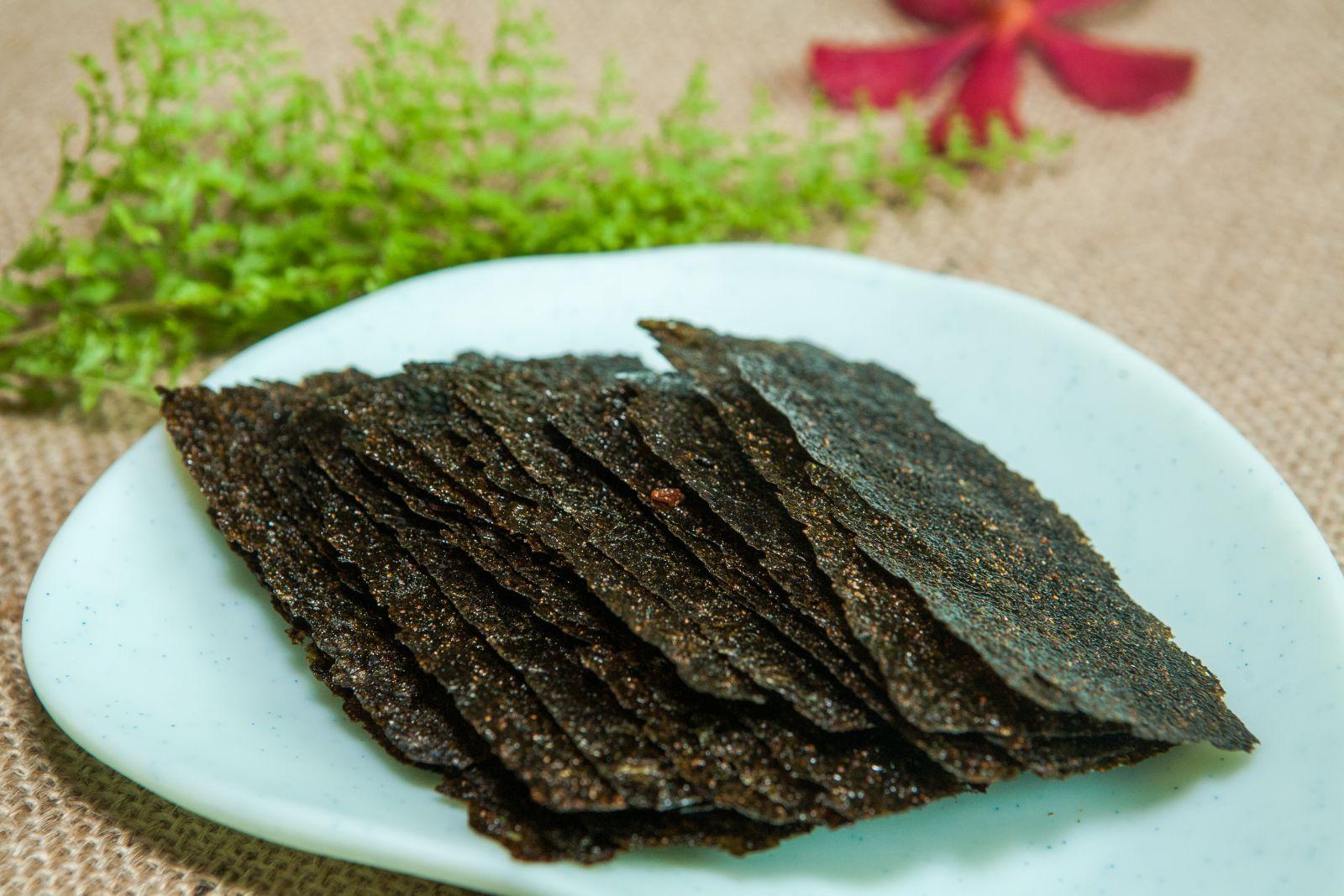 Cách chế biến rong biển sấy khô chiên tỏi ớt