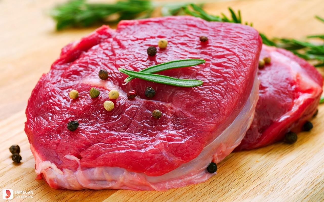 thịt bò tươi ngon làm bò né bông thiên lý