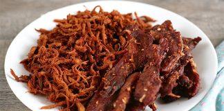 cách làm thịt lợn khô không cần lò nướng