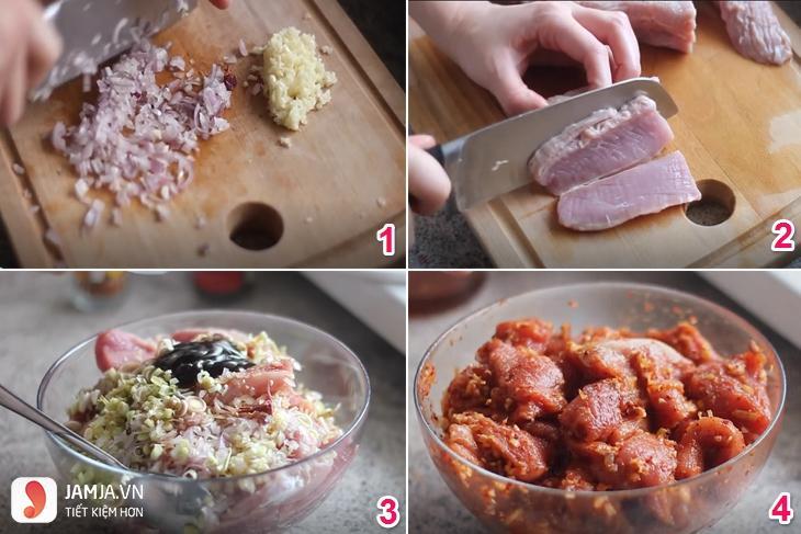 cách làm thịt lợn khô không cần lò nướng-5