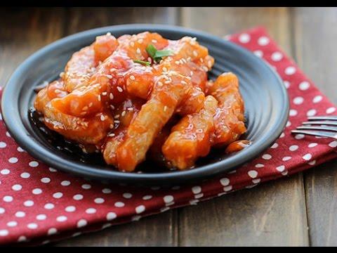 Các cách làm thịt rán tẩm bột chiên giòn sốt chua ngọt-3