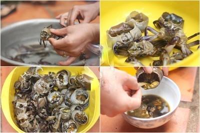 Cách nấu lẩu cua đồng hột vịt lộn - 3
