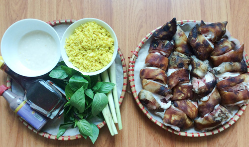 Cách nấu thịt giả cầy miền Trung-2