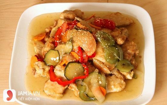 thịt xào chua ngọt kiểu Hàn Quốc