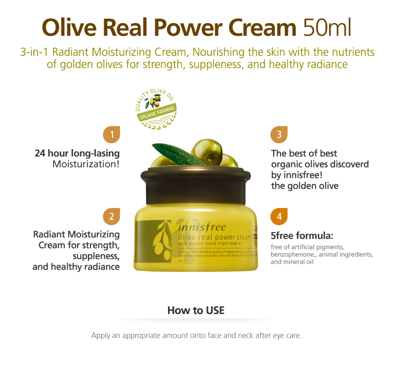 Dòng sản phẩm Innisfree Olive Real
