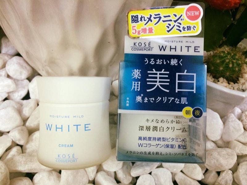 Kem dưỡng trắng da nhật Kose Moisture Mild White Cream