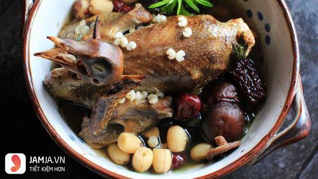 thịt bồ câu bổ dưỡng
