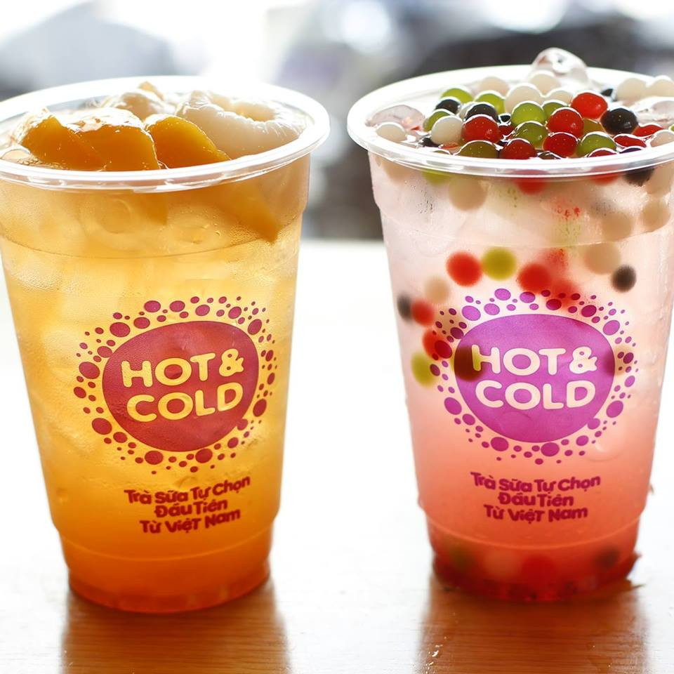 Trà sữa Hot and Cold menu