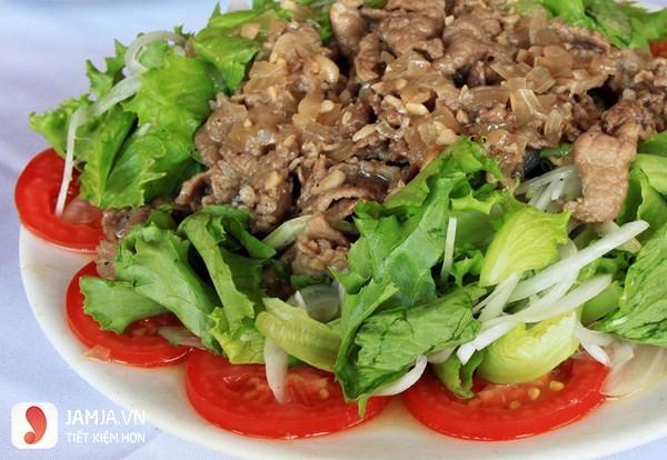 Salad xà lách trộn dầu giấm thịt bò-1