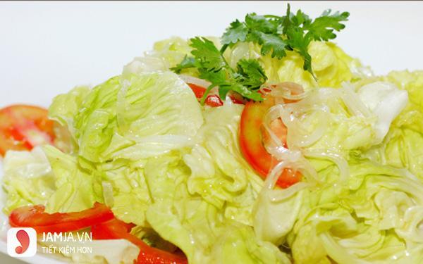 Salad xà lách trộn dầu giấm thịt bò2