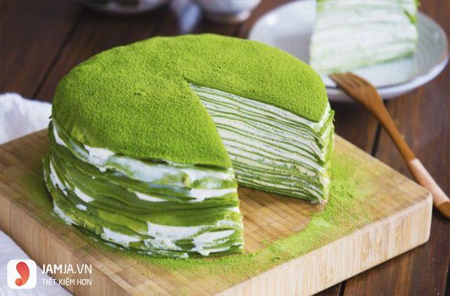 cách làm món bánh crepe matcha từ bột mì 1