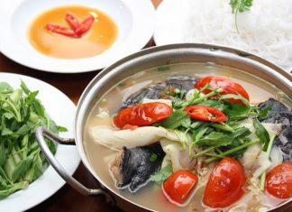 Cách nấu canh chua cá hồi