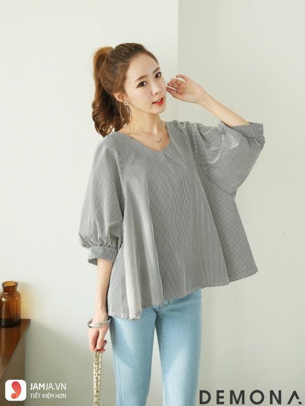 Các kiểu áo sơ mi nữ Hàn Quốc dễ thương