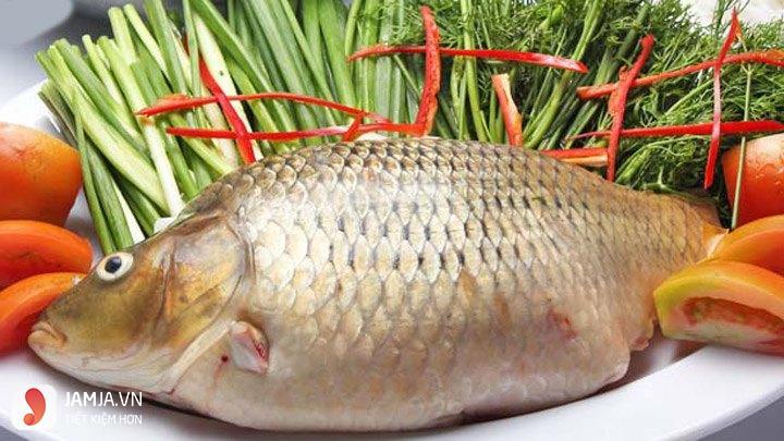 các món ngon từ cá chép cho bà bầu- cá chép hấp
