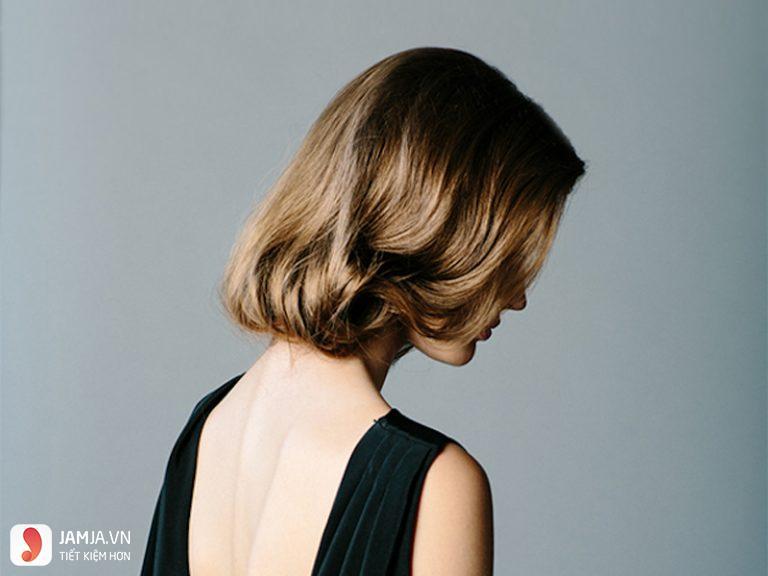 các kiểu tóc buộc ngắn uốn bồng bềnh