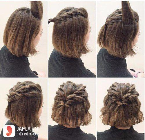 Tất tần tật các kiểu buộc tóc ngắn cho nàng xinh xuống phố 13