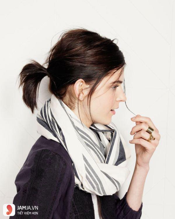 kiểu tóc buộc ngắn thấp-2