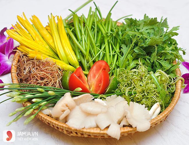Các loại rau ăn kèm