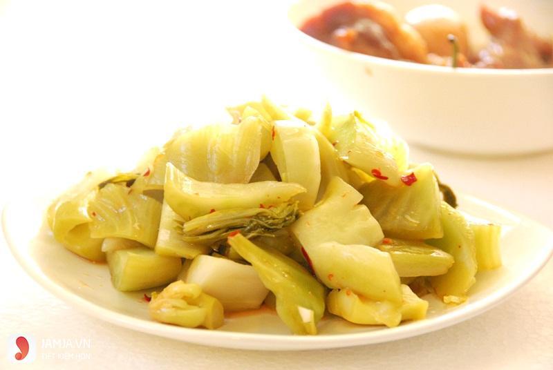 rau cải muối-món ngon rẻ tiền cho sinh viên