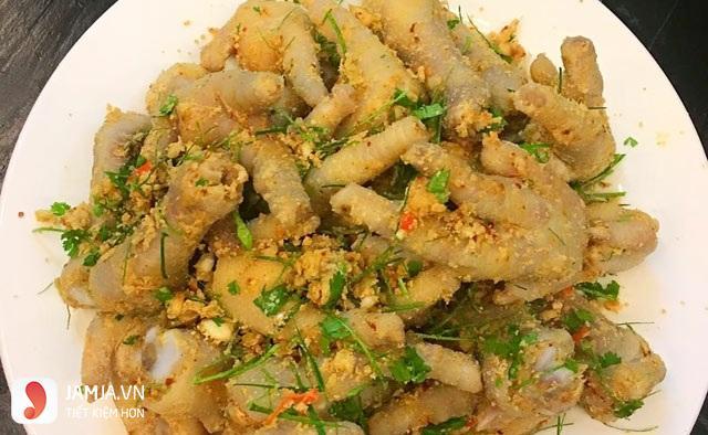 Các món nhậu từ gà -Chân gà trộn thính 3